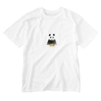 パンダとホットケーキ Washed T-shirts