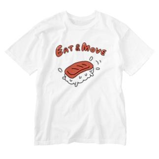 ガモさんのEat and Move マグロ Washed T-shirts