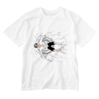 胡桃澤と浮き輪 Washed T-shirts