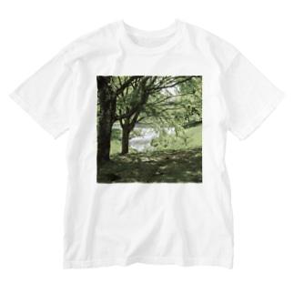 癒しの風景(樹木) Washed T-shirts