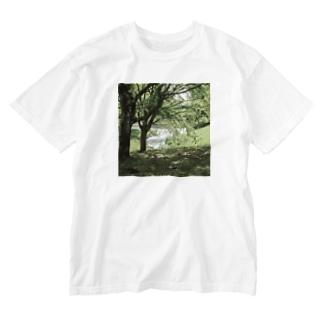 癒しの風景(樹木) Washed T-Shirt