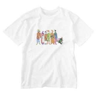 「国民と七面鳥・濃」ラッキー王 Washed T-shirts