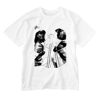 シガーキス Washed T-shirts