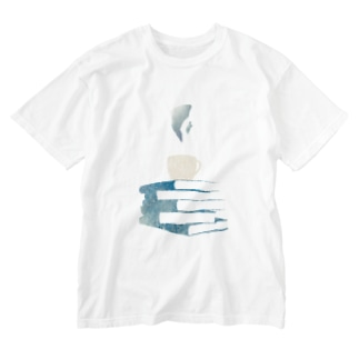 BookCupロゴ Washed T-shirts