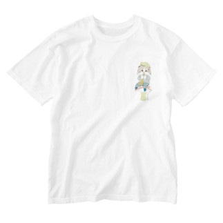 雪山リュー Washed T-shirts