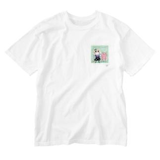 ミルク Washed T-shirts