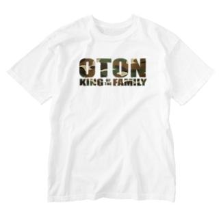 家族王 おとん Washed T-shirts