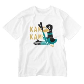 鴨カモ カモかも*C Washed T-Shirt