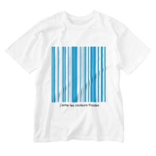 寒色が好きなのよ Washed T-shirts