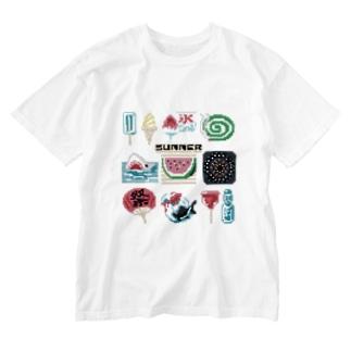 ドットSummer Washed T-shirts
