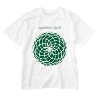 Logarithmic spiral Washed T-shirts