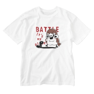 CT166 スズメがちゅん*BATTLEちゅん Washed T-Shirt