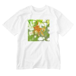 オニユリ Washed T-shirts