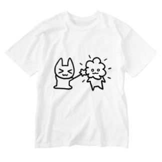 マギネコ Washed T-shirts