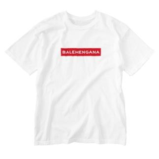 BALEHENGANA -Regular- 赤ボックスロゴ Washed T-Shirt