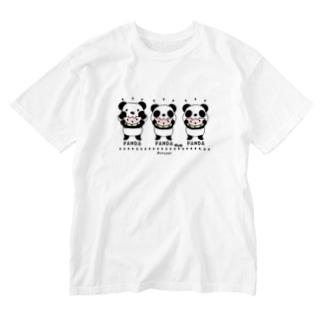 CT169 ズレちゃんとTWIN PANDAS Washed T-shirts