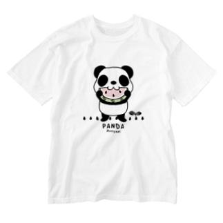 CT169 ズレちゃんとTWIN PANDAS*B Washed T-shirts
