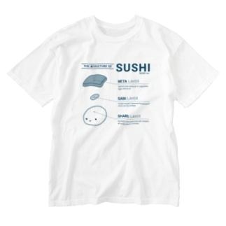 THE 寿TRUCTURE OF SUSHI - monocolor Washed T-Shirt