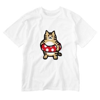 うきわーず チャシロ Washed T-Shirt