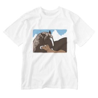 優しいおかさんとぼく Washed T-Shirt