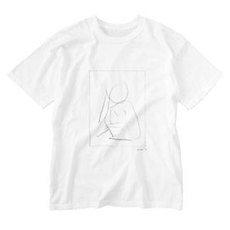 熱視線の女 Washed T-shirts