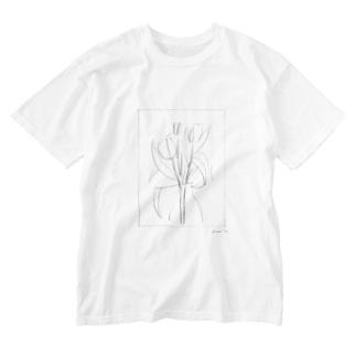 チューリップと Washed T-shirts