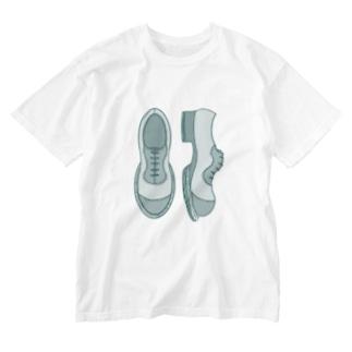 シンプル革靴 濃いめ Washed T-Shirt