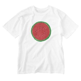 スイカ(赤) Washed T-shirts
