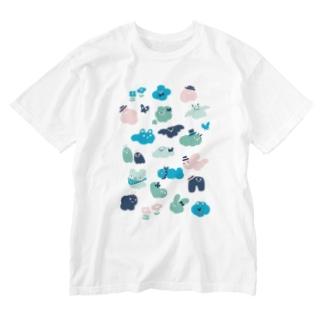 もくもくお化けたち Washed T-shirts