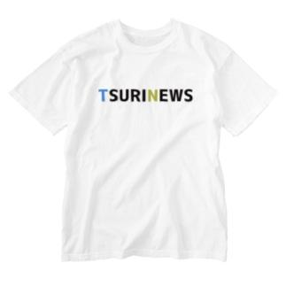 TSURINEWSロゴ-ウォッシュTシャツ Washed T-shirts