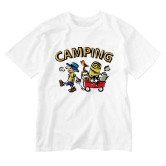 キャンピング_カラフル Washed T-Shirt