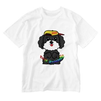 ちんちんトイプードル Washed T-shirts