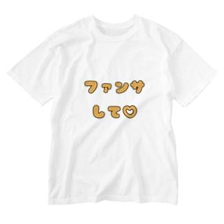 ファンサして♡(メンカラ オレンジ) Washed T-Shirt