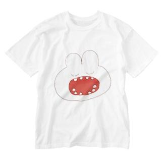うさぎの歯 Washed T-shirts