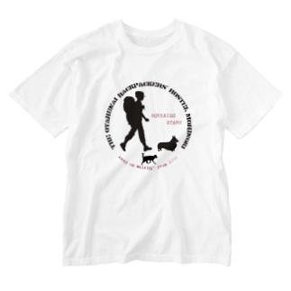 morinoki2018 「旅人」 Washed T-shirts