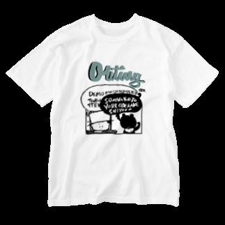 egu shopのouting(blue) Washed T-shirts