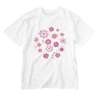 花の集い Washed T-shirts