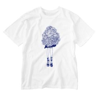 アシ Washed T-shirts