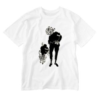 人間化星人(影) Washed T-shirts
