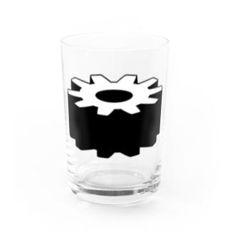 歯車 シンプルデザイン Water Glass