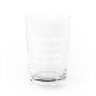 <BASARACRACY>人外の人外による人外のための政治(英語・白) Water Glass