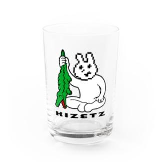 例のウサギvsラステコ Water Glass