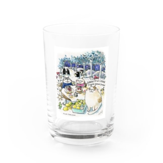 CatChips森のカフェ Water Glass