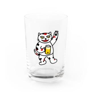 【前田デザイン室 ニャン-T プロジェクト】じゃみぃ飲んでるで〜! Water Glass