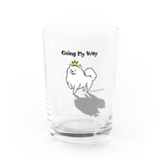Going My Way +piping 我が道をゆくワンコ Water Glass