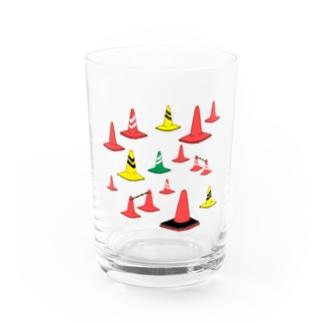 もりもり三角コーン Water Glass