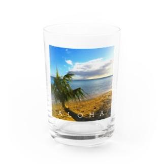 THE BEACH Water Glass