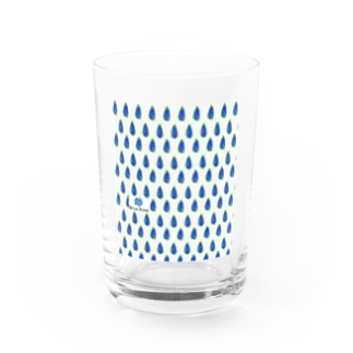 simple blue Water Glass