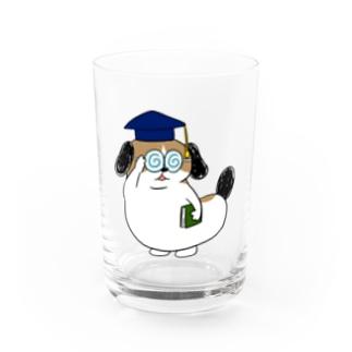 もじゃまる博士 Water Glass