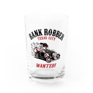 Bank Robber Water Glass